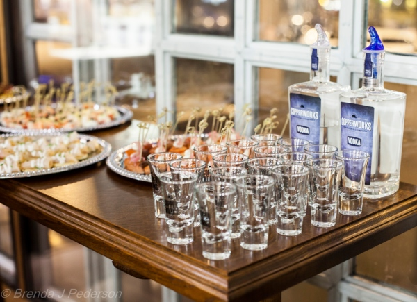 Copperworks Vodka & Elliott's Appetizers
